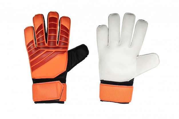 Isolated goalkeeper glove on white background