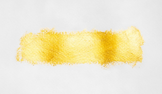 Isolated line of gold paint