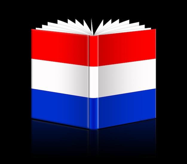 네덜란드의 국기를 묘사한 고립된 책