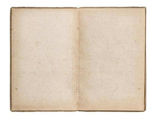 Изолированные открытая старая книга