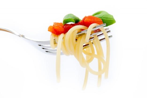 Isolated pasta on white