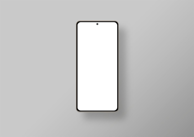 Isolated phone in grey background