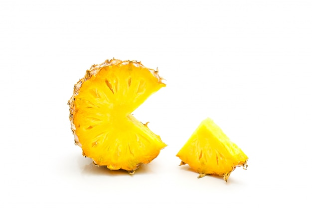 Isolated of pineapple fruit sliced