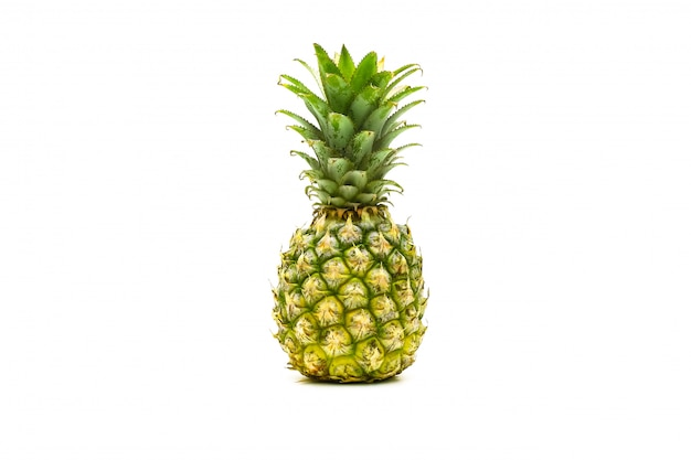 Isolated pineapple fruit on white surface
