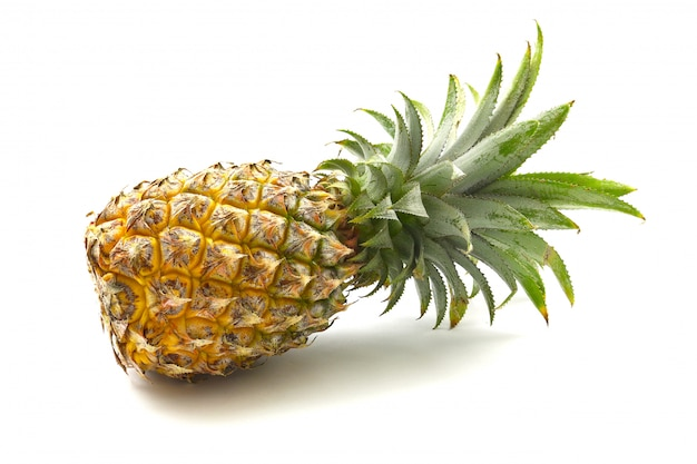 Isolated of pineapple fruit on white