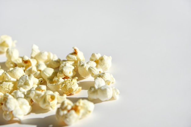 Isolated popcorn on white background