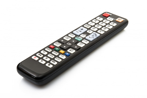 Isolated remote control in white background