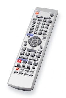 Isolated remote control on white