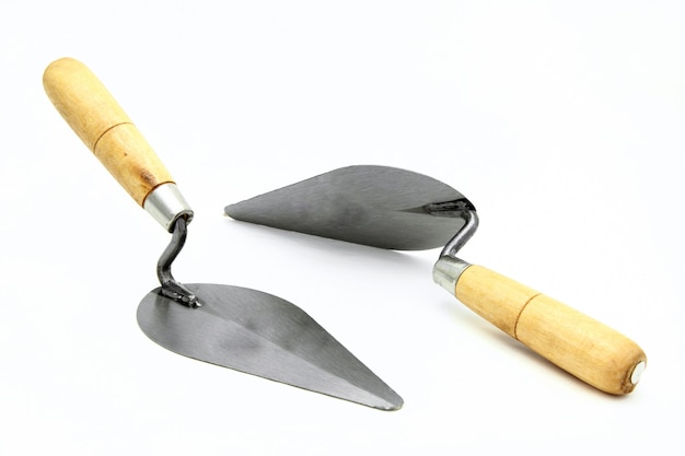 Isolated of set construction lute trowels set