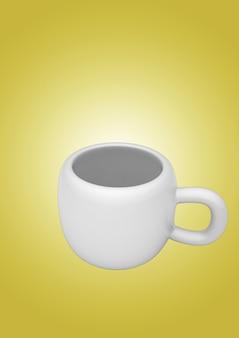 화이트 접시에 고립 된 단순히 골동품 도자기 화이트 티 컵