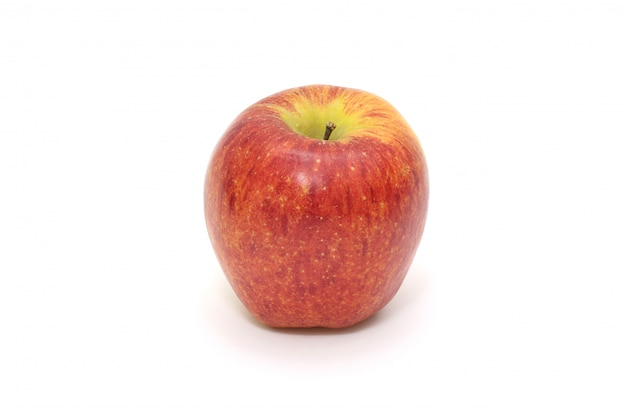 Isolated single simple red apple on white. healthy fruit