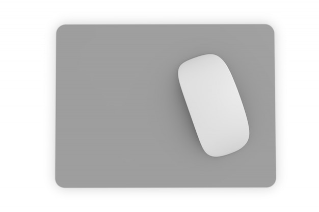 Isolated square mousepad
