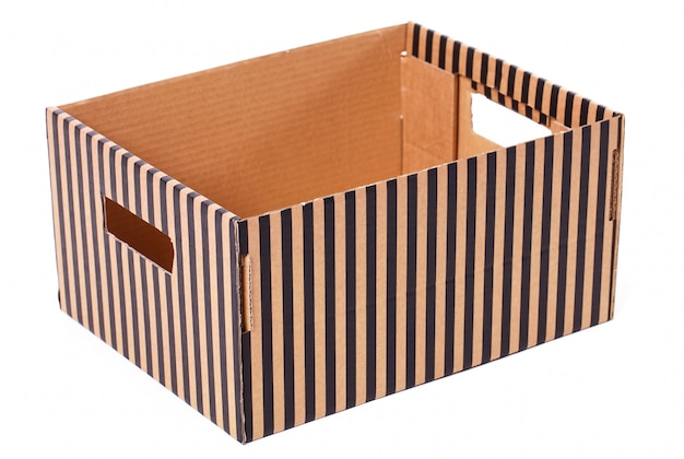 Isolated striped box