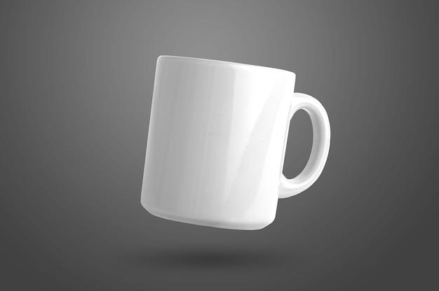 孤立した白いマグカップ
