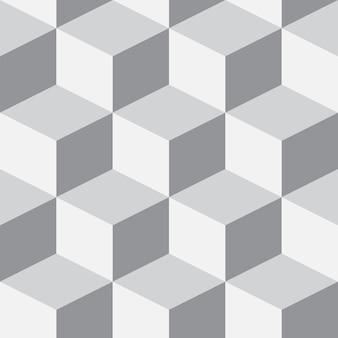 キューブと等尺性の3d背景。未来的な幾何学的なシームレスパターン。ボリュームの目の錯覚