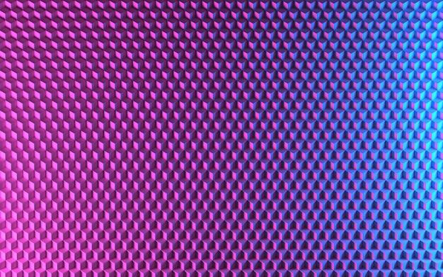 Isometric 3d purple blue cubes