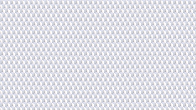 Isometric 3d white cubes pattern background