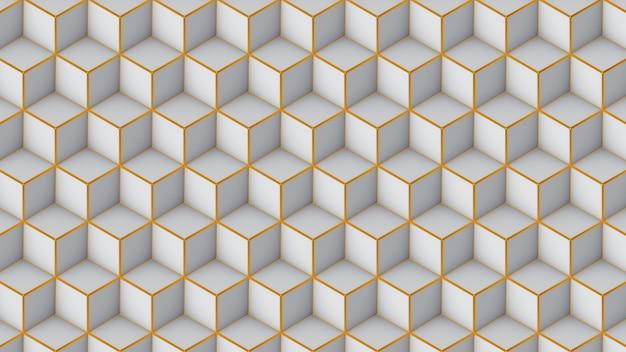 Isometric cubes seamless pattern. 3d render cubes background