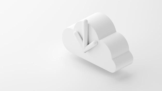 Isometric d download cloud computing illustration