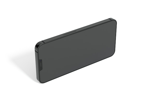 アイソメトリックデザインのスマートフォン