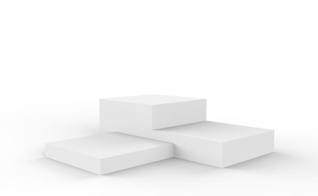 製品プレゼンテーション用の3d空の棚を備えた表彰台の等角投影図