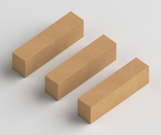Isometric style cardboard boxes