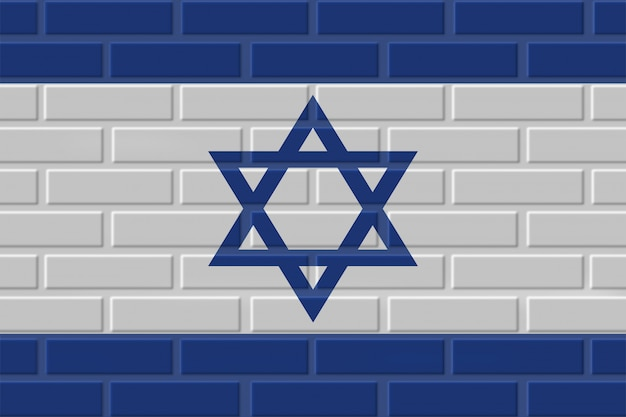 Israel brick flag illustration