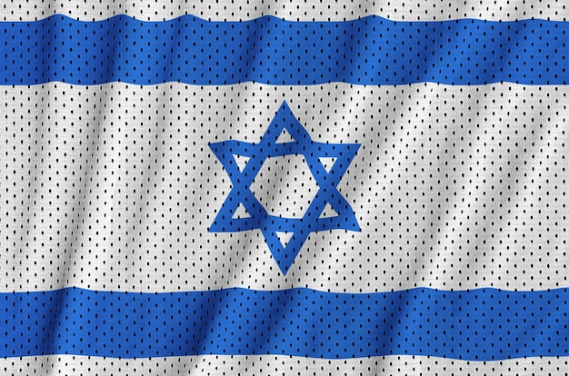 Israel flag printed on a polyester nylon mesh