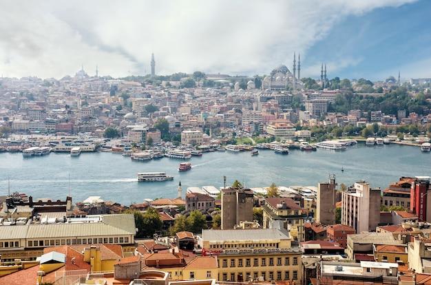 俯瞰から見たイスタンブールとボスポラス海峡