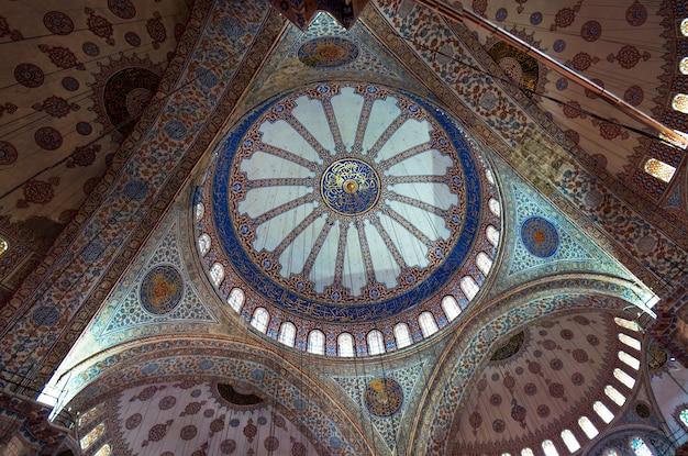 이스탄불 도시 터키 술탄 아메드 모스크 타일 세부 사항