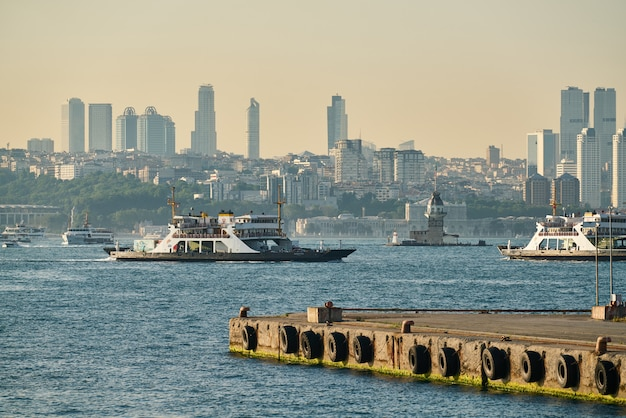 Istanbul city view from turkey