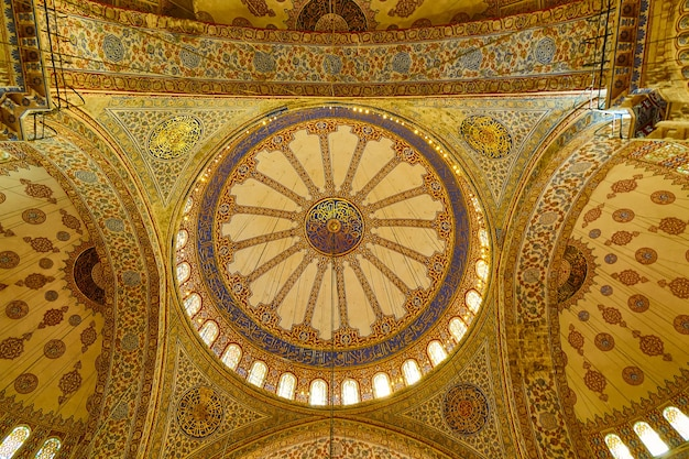 Istanbul, turkey -the domes of the blue mosque in istanbul, turkey.