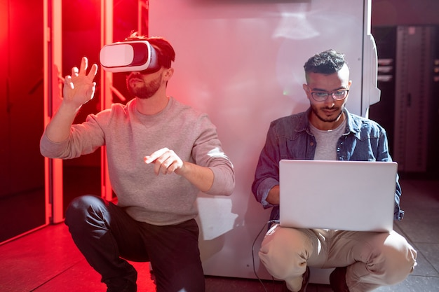 Ит-инженеры тестируют новое приложение для дополненной реальности