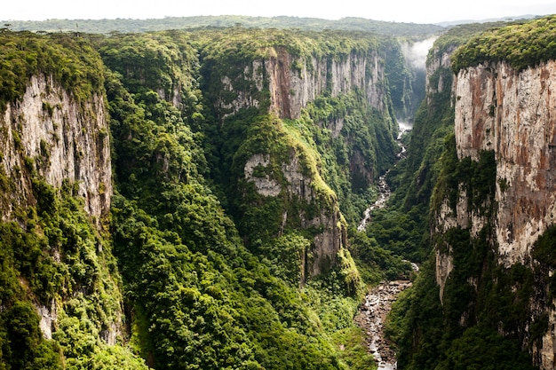 Itaimbezinho canyon cliffs in southern brazil