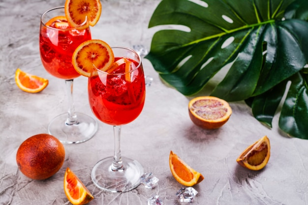Italian aperol spritz cocktail