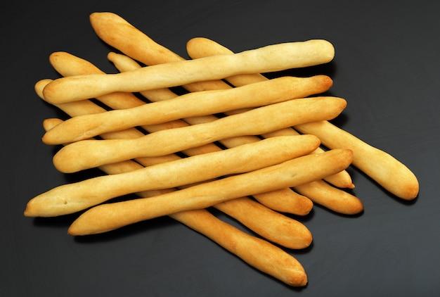 Italian bread, crispy grissini