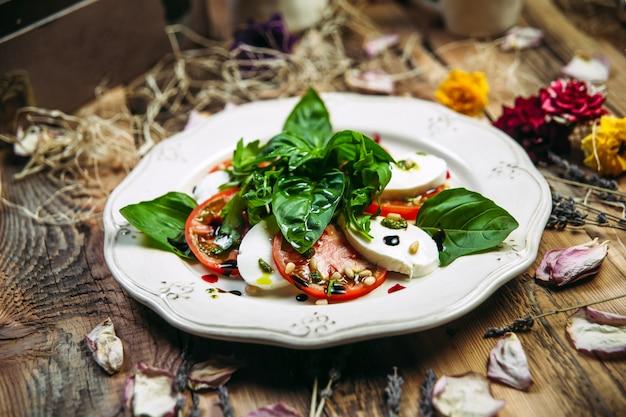 Italian caprese salad tomatoes and mozzarella