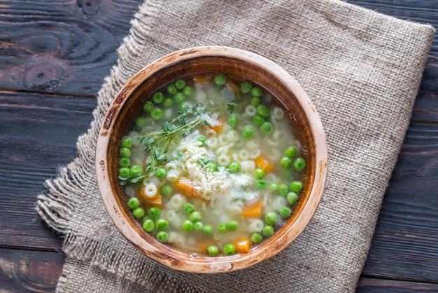 パルメザンチーズのイタリアンチキンパスタスープ