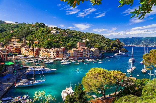 Italian fishing village and luxury holiday resort in liguria