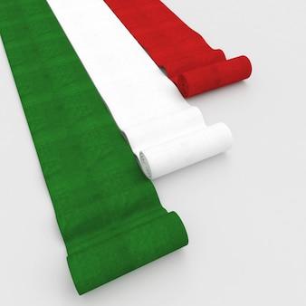 Итальянский флаг ковер