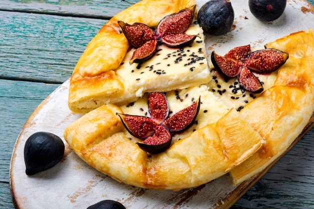 Italian focaccia with fig