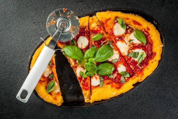 Italian food, pizza di polenta