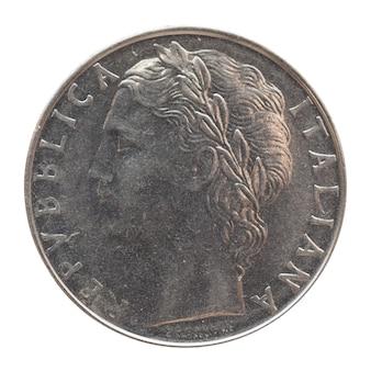 白の上に分離されたイタリアのリラコイン