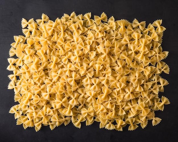 Italian pasta on black
