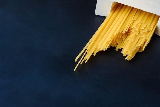 Italian pasta in a paper box