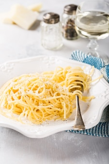 Italian pasta with pecorino cheese