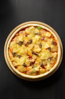 Italian pizza at table