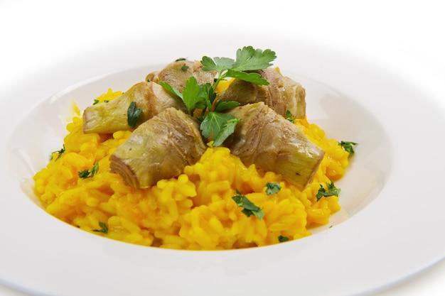 Italian risotto with artichoke