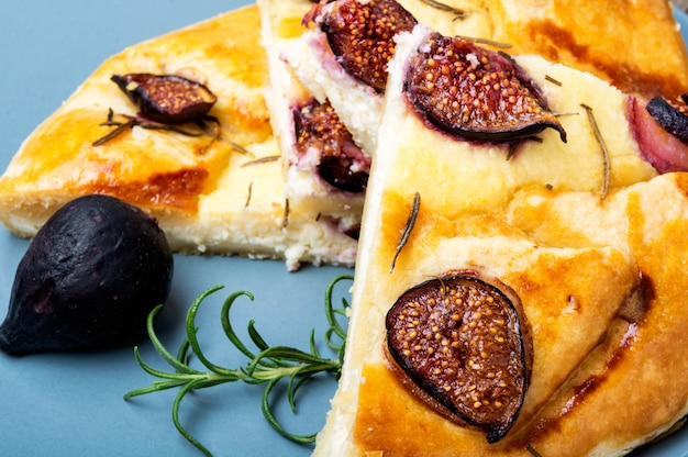 Italian summer focaccia with figs