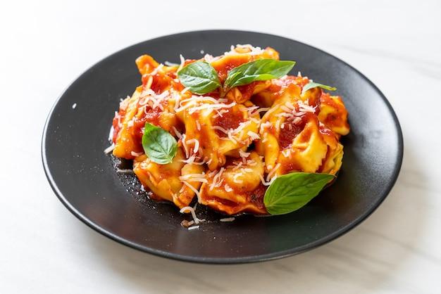 Italian tortellini pasta with tomato sauce - italian food style